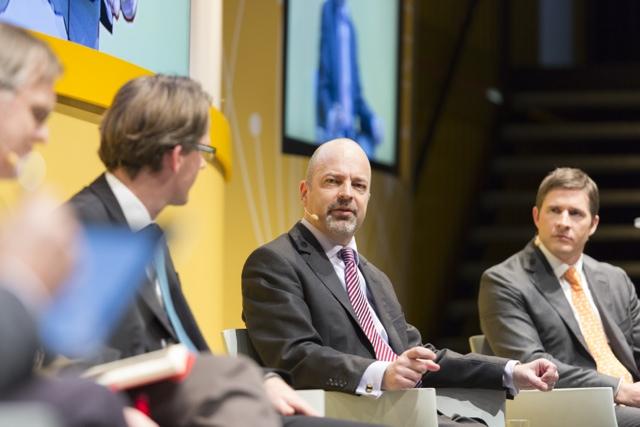 Jörg Schiemann bei der Paneldiscussion @ DHL Innvoation Day